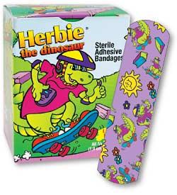 Herbie the Dinosaur Character Bandages