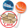 Swirl Saf-T-Pops 12-Bag Case Candy