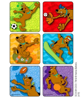 Scooby-Doo Sporty Moves Stickers
