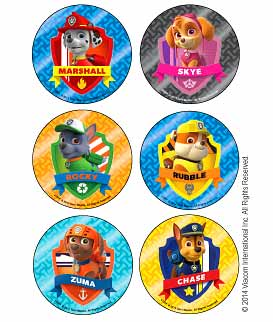 PAW Patrol Foil Badges Stickers