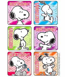 Peanuts Snoopy Birthday Foil Stickers Kids Love Stickers From Medibadge