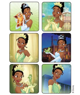 Princess and The Frog - Tiana Disney Stickers