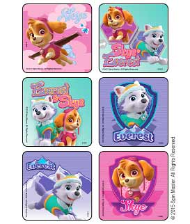 PAW Patrol - Girl Pups Stickers