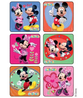 Mickey & Minnie Mouse Glitter Disney Stickers