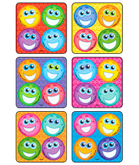 Smiley Face MiniBadges™ Stickers