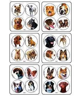 Dog Photo MiniBadges Stickers
