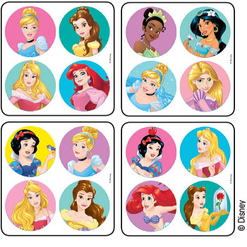 Disney Princesses Minibadges Stickers Kids Love Stickers From