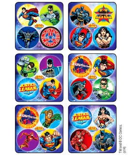 Justice League MiniBadges Stickers
