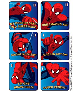 Spider-Man Strong 'n Healthy! Stickers