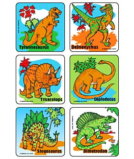 Dino World Asst. Stickers
