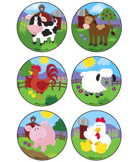 Baby Barnyard Animals Asst. Stickers