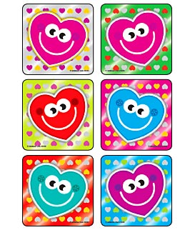Foil Happy Hearts Asst. Stickers