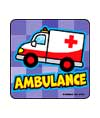Kiddie Rescue Vehicles Asst. Stickers