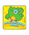 Wise Saver Owls Asst. Banking Stickers