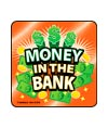 Foil Money Slogans Asst. Banking Stickers