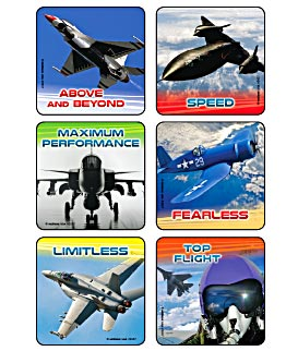Jet Power Quotes Asst. Stickers