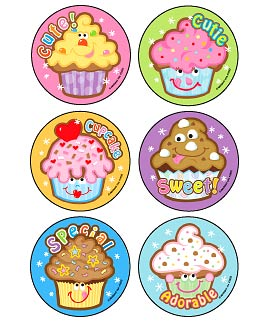 Cupcake Cuties Scratch 'n Sniff Asst. Scented Stickers