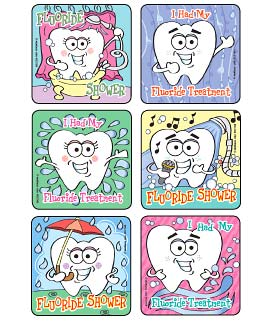 Fluoride Shower Asst. Dental Stickers
