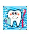 Smiley Teeth Asst. Dental Stickers