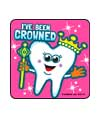 I've Been Crowned Asst. Dental Stickers
