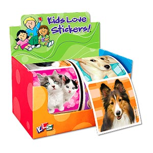 Dog 'n Cat Photos 2-Roll Display Sticker Box