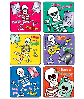 X-Ray Skeletons Asst. Medical Stickers