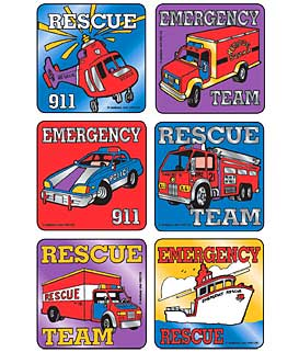 Rescue Team Vehicles - Foil Asst. Stickers