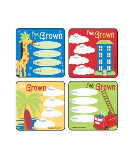 I've Grown - Boys Asst. Stickers