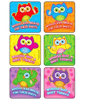 Brave for Shots - Owls Asst. Medical Stickers