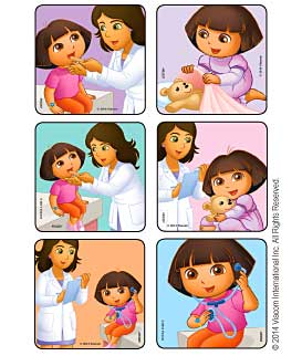 Dora Visits The Doctor Medical Stickers