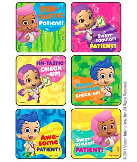 Bubble Guppies - Fintastic Patient! Medical Stickers