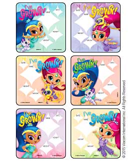 Shimmer and Shine - I've Grown Medical Stickers