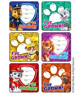 PAW Patrol - I've Grown Medical Stickers