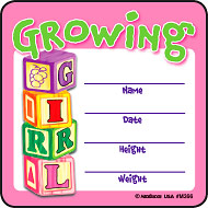 Growing Girl Medical Stickers