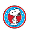 Peanuts - Happy July 4th Stickers