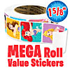 Disney Princesses Mega Roll Value Stickers