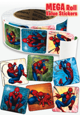 Spider-Man Classic Mega Roll Value Stickers