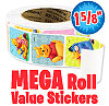 Pooh and Pals Mega Roll Value Stickers