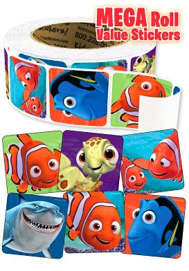 Finding Nemo Mega Roll Value Stickers