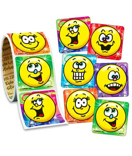 Fun Smiles Value Stickers - Roll