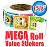 SpongeBob Faces Mega Roll Value Stickers