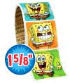 SpongeBob Faces Value Stickers - Roll