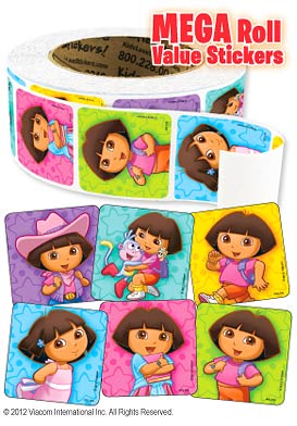 Dora Playful Mega Roll Value Stickers