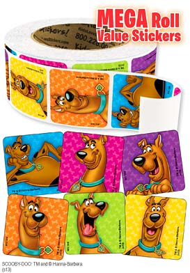 Scooby-Doo Mega Roll Value Stickers
