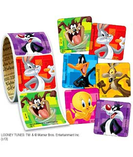 Looney Tunes Value Stickers - Roll
