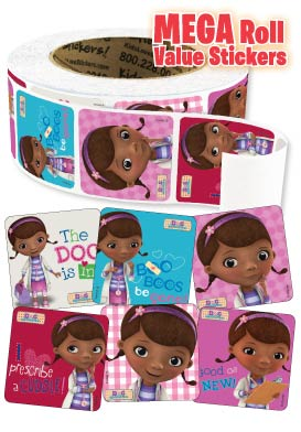 Doc McStuffins Mega Roll Value Stickers