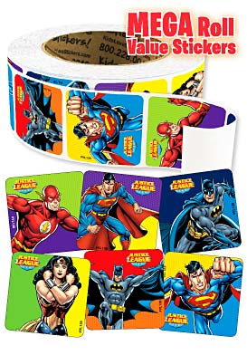 Justice League Mega Roll Value Stickers™