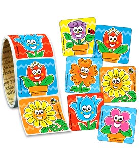 Flower Friends Value Stickers - Roll