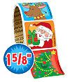 Christmas Value Stickers - Roll