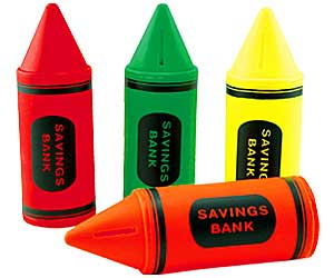 Crayon Coin Banks